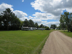 RV park with newly upgraded services 3½ hours East of Edmonton