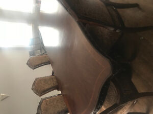 Moving Sale! Dining table with 7 chairs and something else!