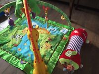 Fisher Price ma and M&P tummy time activity toys
