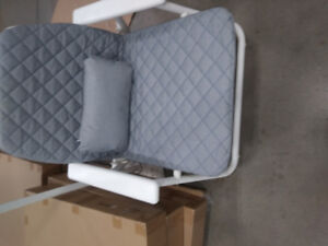 Brand new foldable patio/indoor chairs with cushion, still in pa