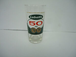 LABATT'S 50 BEER-VINTAGE GLASS