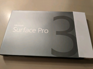 Microsoft Surface Pro 3, new in box 256GB, 8GB ram