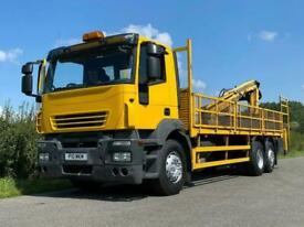 Iveco Stralis 310 6 X 2 Flat With Terex Crane