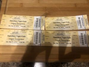 4 Ti Cat tickets for Saturday game