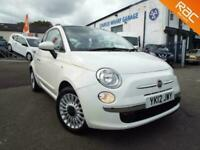 2012 Fiat 500 1.2 Lounge finished in white, cloth trim and just 44,088 Miles