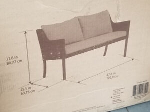 Allen&Roth Cushioned Woven patio Bench