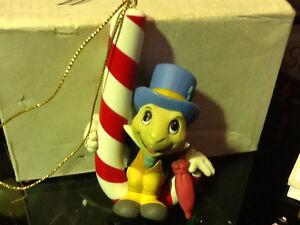 CHRISTMAS Magic Ornament Jiminy Cricket on Candy Cane Disney $75