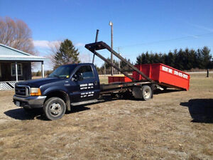 2000 Ford F-550 ROLL OFF BIN TRUCK, COMES WITH 2 BINS!!