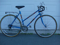 Vintage ladies' 10 speed road bike.