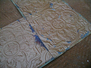 tin ceiling - antique tin ceiling for sale, gold taupe sq circle