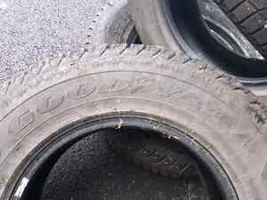 4 used studded Goodyear ultra grip winter tires