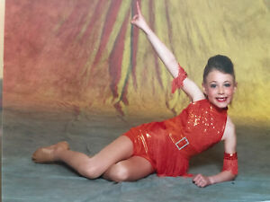 orange dance costume