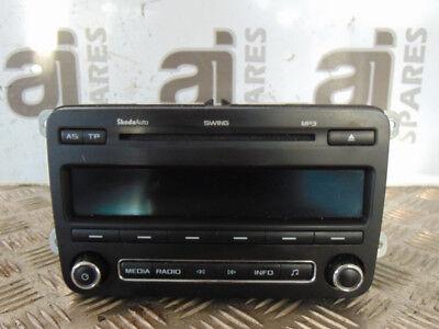 SKODA ROOMSTER 1.6 TDI 2012 CD RADIO PLAYER (NO CODE) 5J0035161D