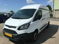 *buy from £43 per week* WHITE FORD TRANSIT CUSTOM VAN 2.2 290 LR P/V