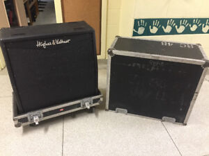 Hughes and Kettner 4x12 Cabinet with case on wheels