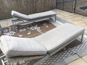 beautiful high quality patio sofas, reclining chairs, table