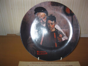 "Norman Rockwell ""The Music Maker"" collector plate"