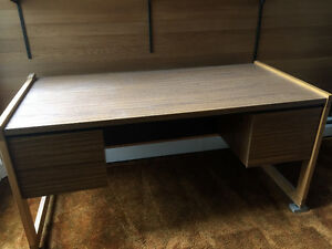 "Desk Wood Great condition 30"" x 5'2"""