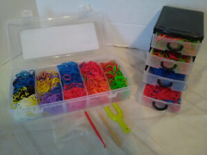 Loom bands, 2 cases , tools, and hooks