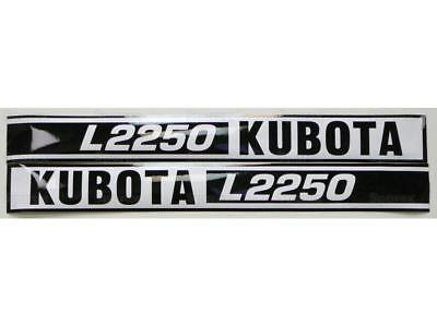 New Kubota L2250 Hood Decal Set