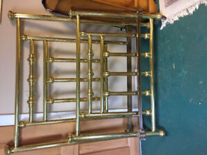 Antique Solid Brass bed Headboard and Footboard