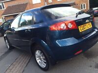 Chevrolet lancetti 2007 automatic new mot only 60k miles