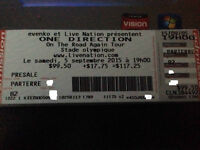One Direction Floor tickets Montreal Olympic Stadium 2015