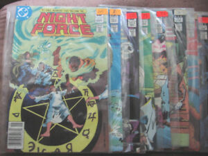 NIGHT FORCE (1982 1ST SERIES) COMIC BOOK LOT
