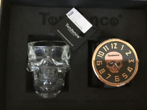 New Skull Watch Set With Skull Shot Glass New In Box