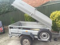"6ft 6"" by 4ft Daxara tipping trailer + ALL EXTRAS"