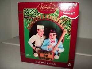 """Abbott & Costello """"Who's on First?"""" Christmas Ornament w/sound!"""