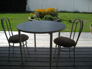 REDUCED PRICE  white table and 2 chairs