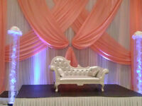 banquet halls decor,,Chair covers starting at $1