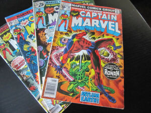 Captain Marvel Comic Books 1975-1979 (Prices Listed Below)