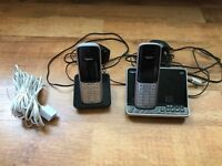 **As New Siemens Gigaset S795 Twin DECT Phones With Answering Machine + Extras**