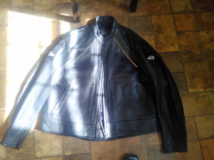 New Motorcycle leather jacket (Victory Brand )size 8 boots