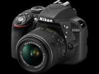 Nikon D3300 camera with Nikkor 18-55 lens . mint condition