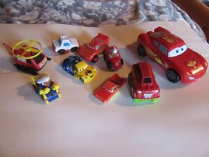 CARS AND TRUCKS - MULTIPLE LOTS!!!! and a CARS TOY BOX