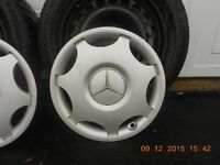 Mercedes winter steel rims & mags wheels( 2 sets for sale)