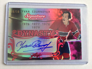 YVAN COURNOYER Leaf 2015-16 DYNASTY RED AUTOGRAPH  06/10