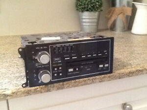 1987 grand national G body radio am fm cassette with clock