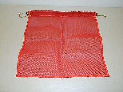 """*NEW* 18"""" x 18"""" Red Mesh Safety Flag w/HD Bungee Cord Oversize Load (USA)"""