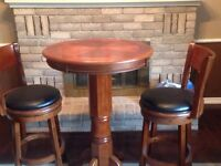 Pub table and 2 Augusta bar stool