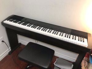 Casio piano CDP130 + stand + pedal + bench (88 weighted keys)