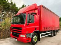 2008 DAF CF75,250 CURTAINSIDER 10 TYRE 26 TON TAIL-LIFT AIR-CON !!! FLAT 1 OWNER