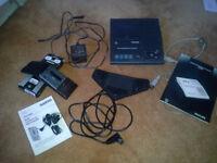 Phillips Transcription System & Sanyo Mini Cassette Recorder