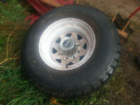 Trailer tire barely used!