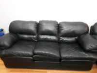 3 peice leather sofa + Kitchen table with 4 chairs