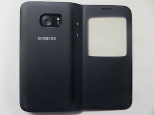 Samsung Galaxy S7 S-View Flip Cover Phone Case, Black Kitchener / Waterloo Kitchener Area image 1