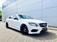 2013 13 reg Mercedes-Benz E250 2.1CDI AMG Sport + WHITE + E63 AMG BODY STYLING
